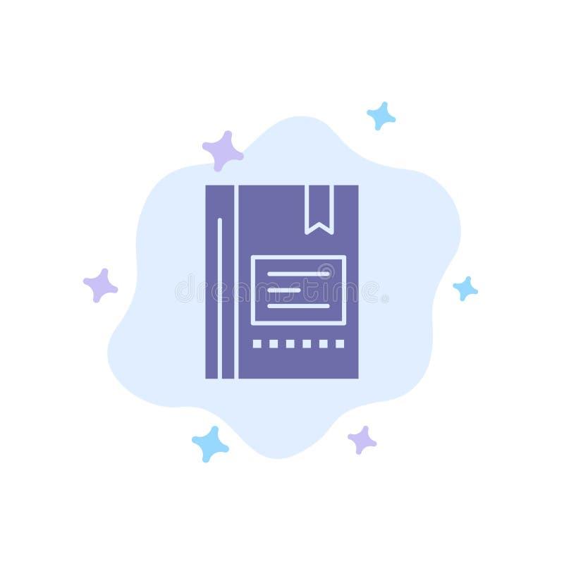 Referentie, Boek die, Onderwijs, Favoriet, Nota, Notitieboekje, Blauw Pictogram op Abstracte Wolkenachtergrond lezen stock illustratie
