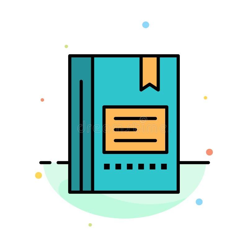 Referentie, Boek die, Onderwijs, Favoriet, Nota, Notitieboekje, het Abstracte Vlakke Malplaatje van het Kleurenpictogram lezen stock illustratie