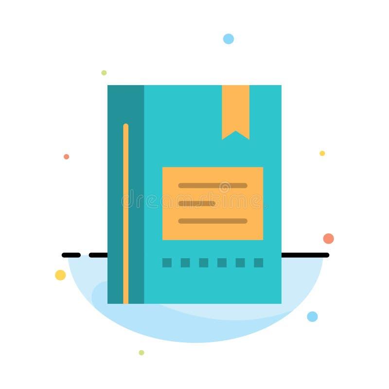 Referentie, Boek die, Onderwijs, Favoriet, Nota, Notitieboekje, het Abstracte Vlakke Malplaatje van het Kleurenpictogram lezen royalty-vrije illustratie
