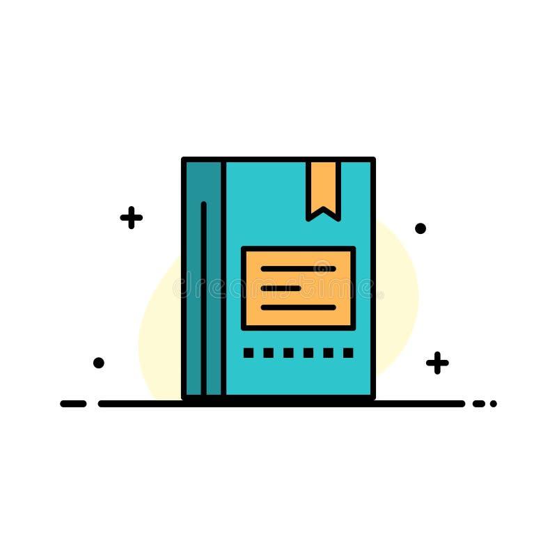 Referentie, Boek die, Onderwijs, Favoriet, Nota, Notitieboekje, Zaken Vlak Lijn Gevuld Pictogram lezen Vectorbannermalplaatje vector illustratie