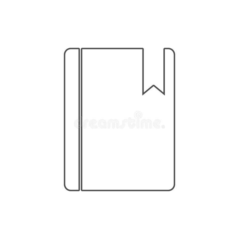 referentie in een boekpictogram Element van Web voor mobiel concept en webtoepassingenpictogram Dun lijnpictogram voor websiteont royalty-vrije illustratie