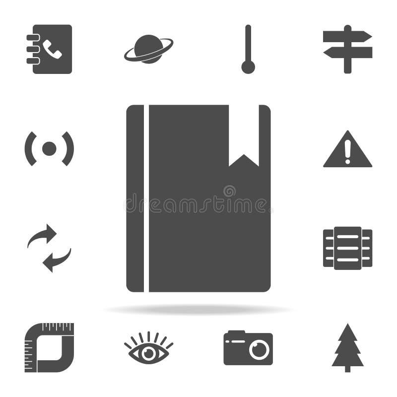 referentie in een boekpictogram voor Web wordt geplaatst dat en het mobiele algemene begrip van Webpictogrammen vector illustratie