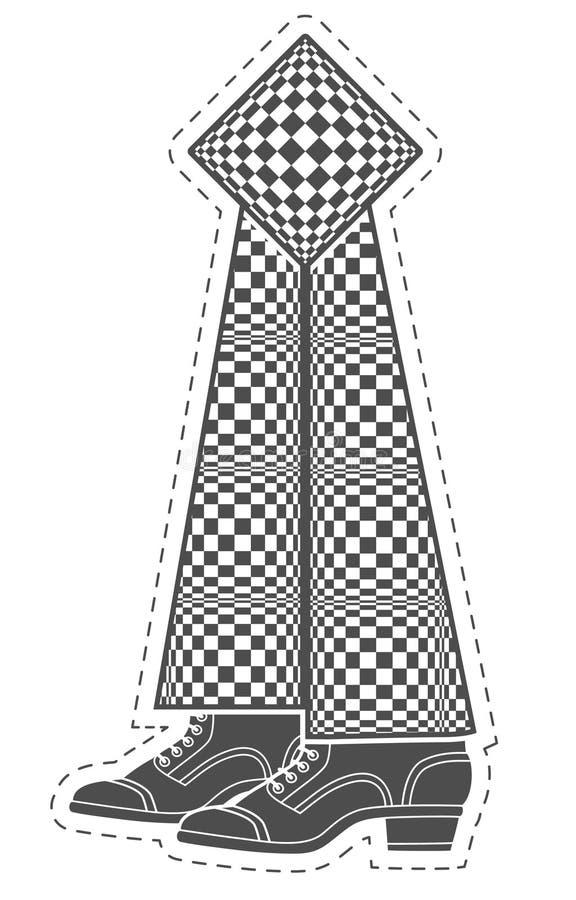Referentie in een vorm van benen stock illustratie