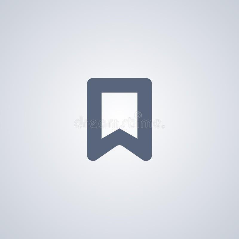 Referentie, favoriet, vector beste vlak pictogram royalty-vrije illustratie