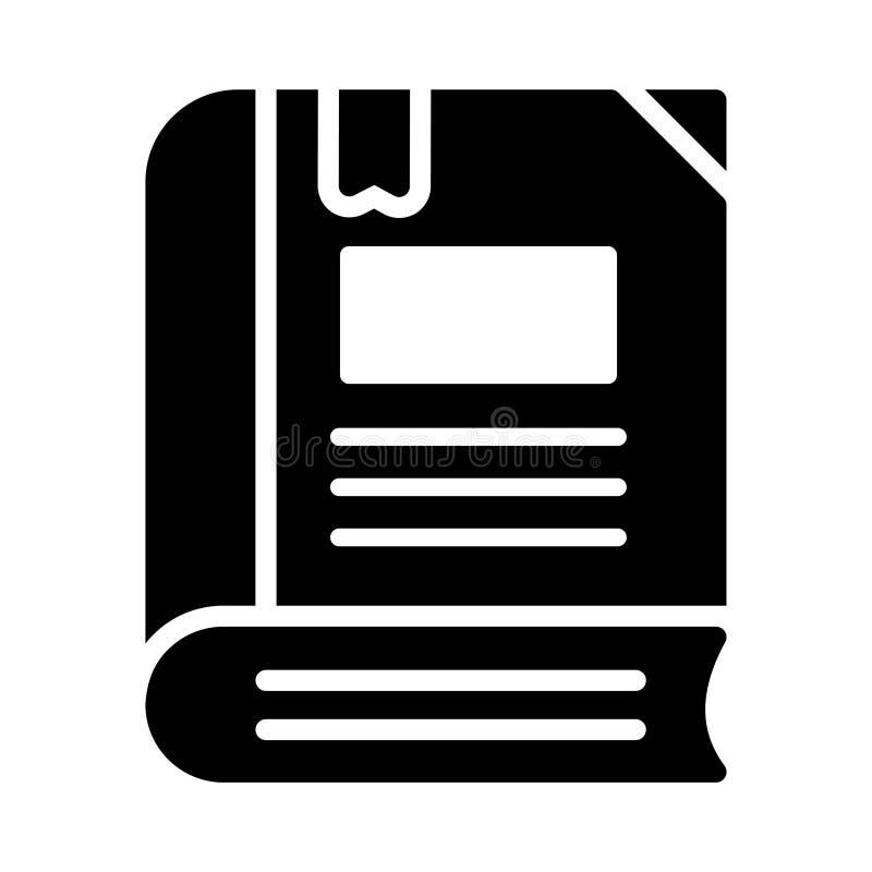 Referentie glyph vlak vectorpictogram stock illustratie