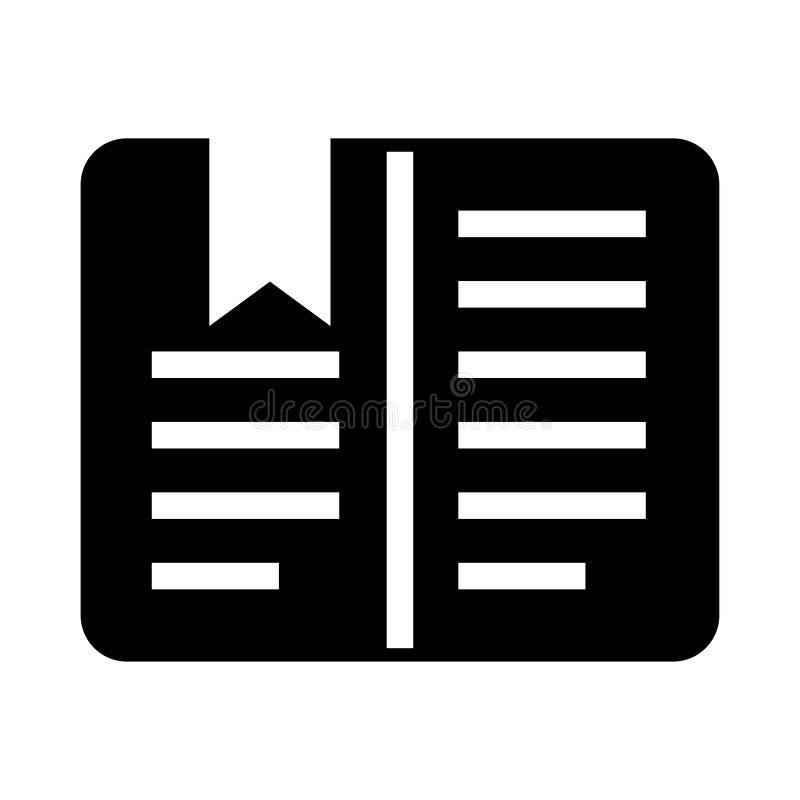 Referentie glyphs pictogram stock illustratie