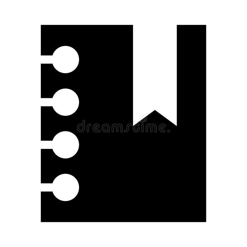 Referentie glyphs pictogram vector illustratie