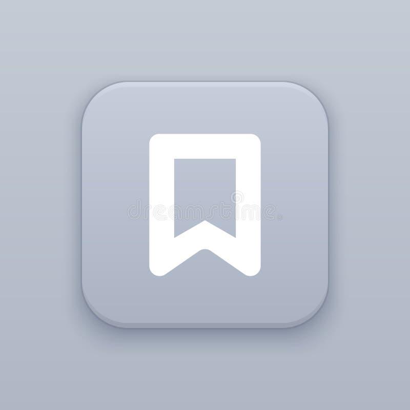 Referentie, grijze vectorknoop met wit pictogram stock illustratie
