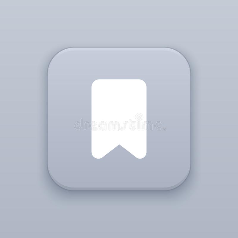 Referentie, grijze vectorknoop met wit pictogram royalty-vrije illustratie