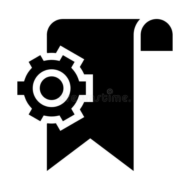 Referentie het plaatsen glyphs pictogram vector illustratie