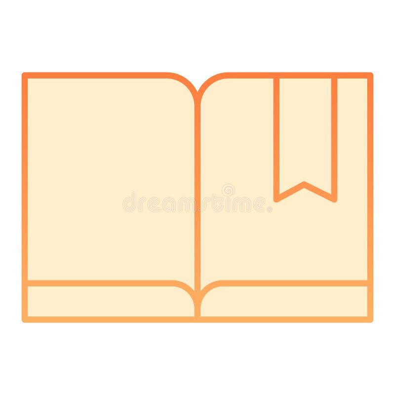 Referentie met boek vlak pictogram Lees oranje pictogrammen in in vlakke stijl De stijlontwerp van de kennisgradiënt, dat voor We vector illustratie