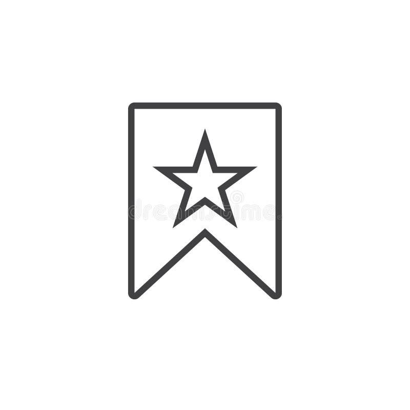 Referentie met het pictogram van de sterlijn, de illustratie van het overzichtsembleem, royalty-vrije illustratie