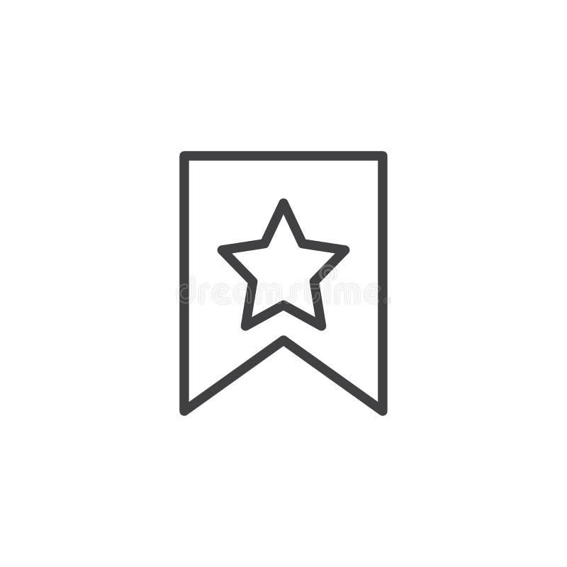 Referentie met het pictogram van het steroverzicht stock illustratie