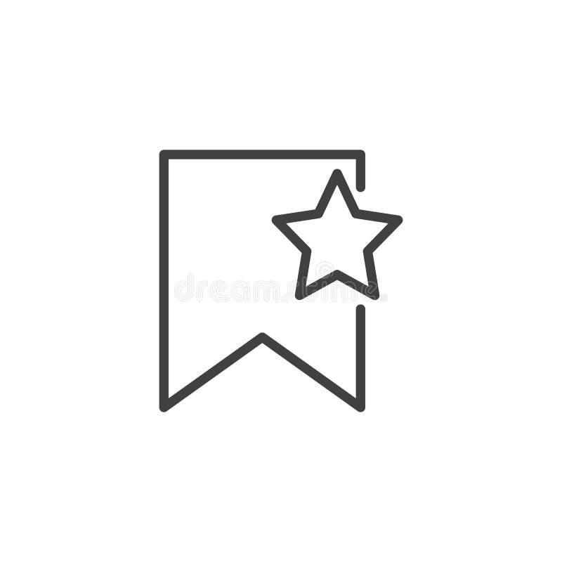 Referentie met het pictogram van het steroverzicht royalty-vrije illustratie