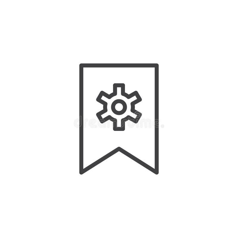 Referentie met het pictogram van het toesteloverzicht royalty-vrije illustratie