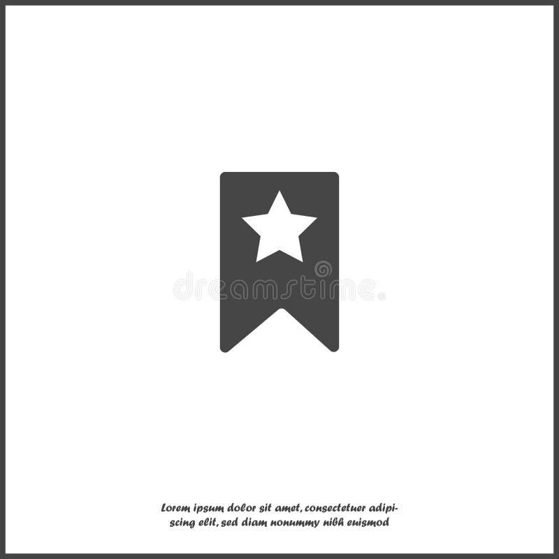 Referentie met ster op wit geïsoleerde achtergrond vector illustratie