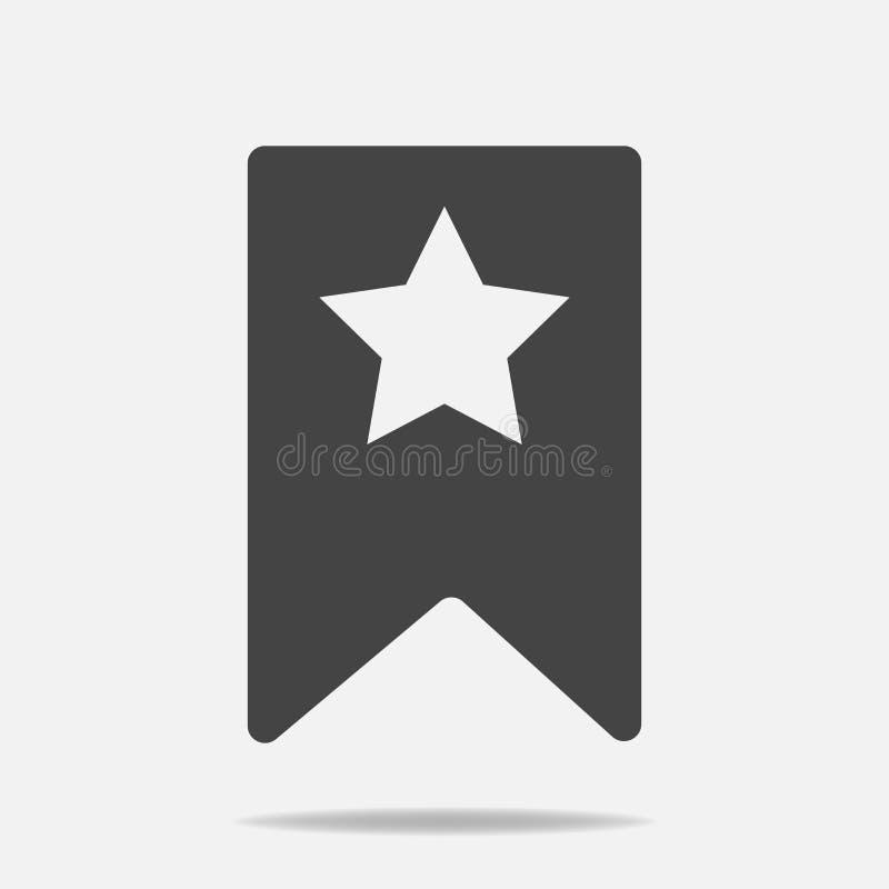 Referentie met ster met schaduw Lagen voor het gemakkelijke uitgeven worden gegroepeerd die royalty-vrije illustratie