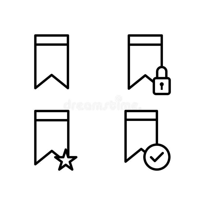 referentie, slot, ster, de pictogrammen van het controleteken Element van de pictogrammen van de overzichtsknoop Dun lijnpictogra stock illustratie