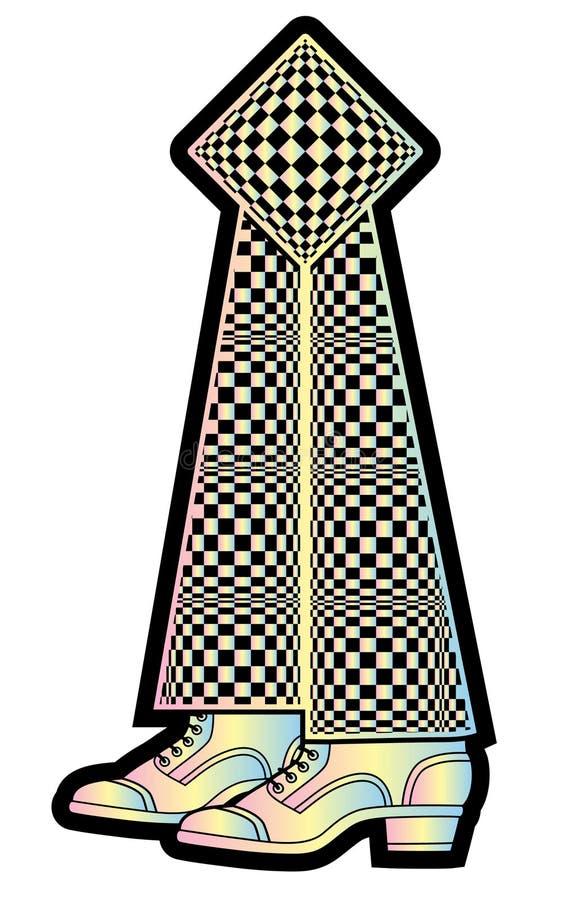 Referentie-speelgoed in een vorm van benen stock illustratie