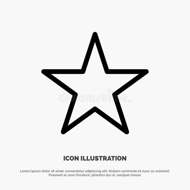 Referentie, Ster, Media de Vector van het Lijnpictogram royalty-vrije illustratie