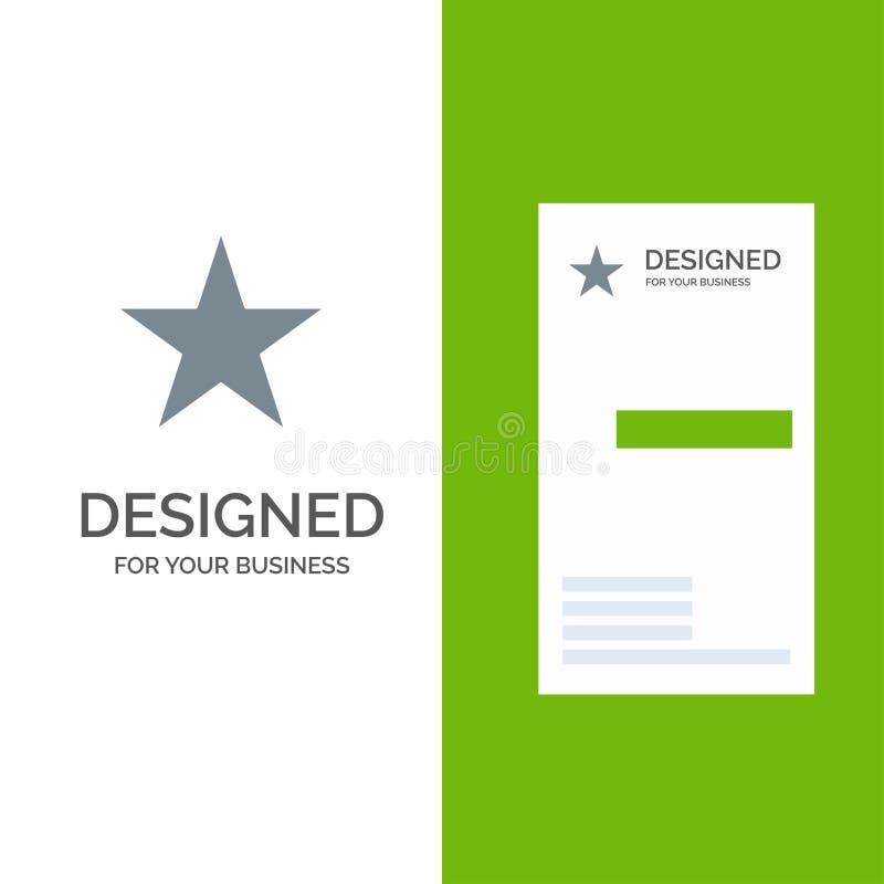Referentie, Ster, Media Grey Logo Design en Visitekaartjemalplaatje stock illustratie