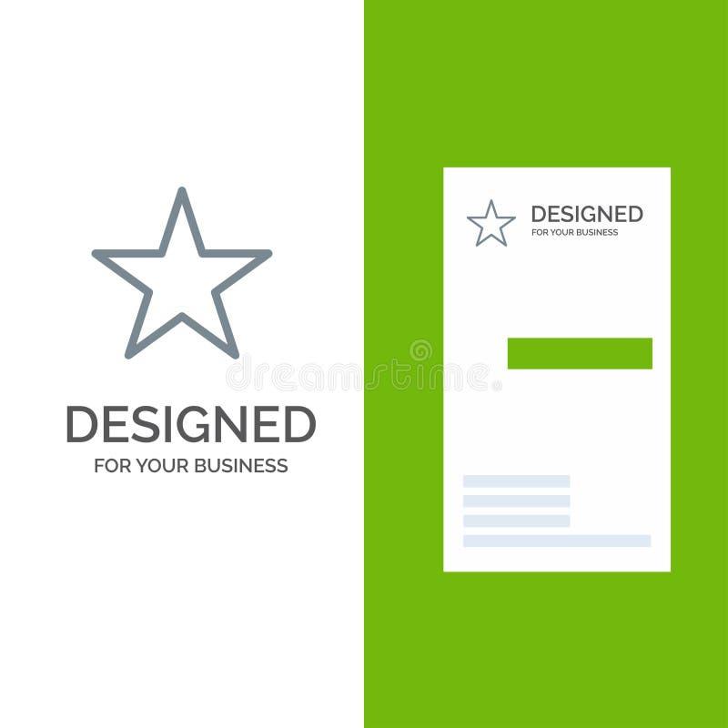 Referentie, Ster, Media Grey Logo Design en Visitekaartjemalplaatje vector illustratie