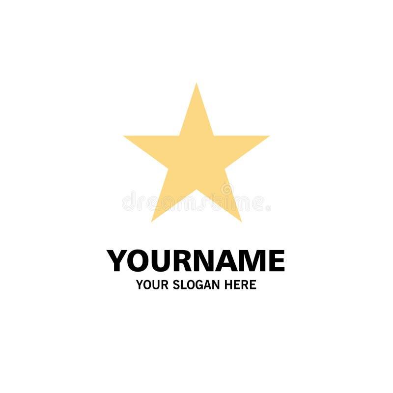 Referentie, Ster, Media Zaken Logo Template vlakke kleur royalty-vrije illustratie