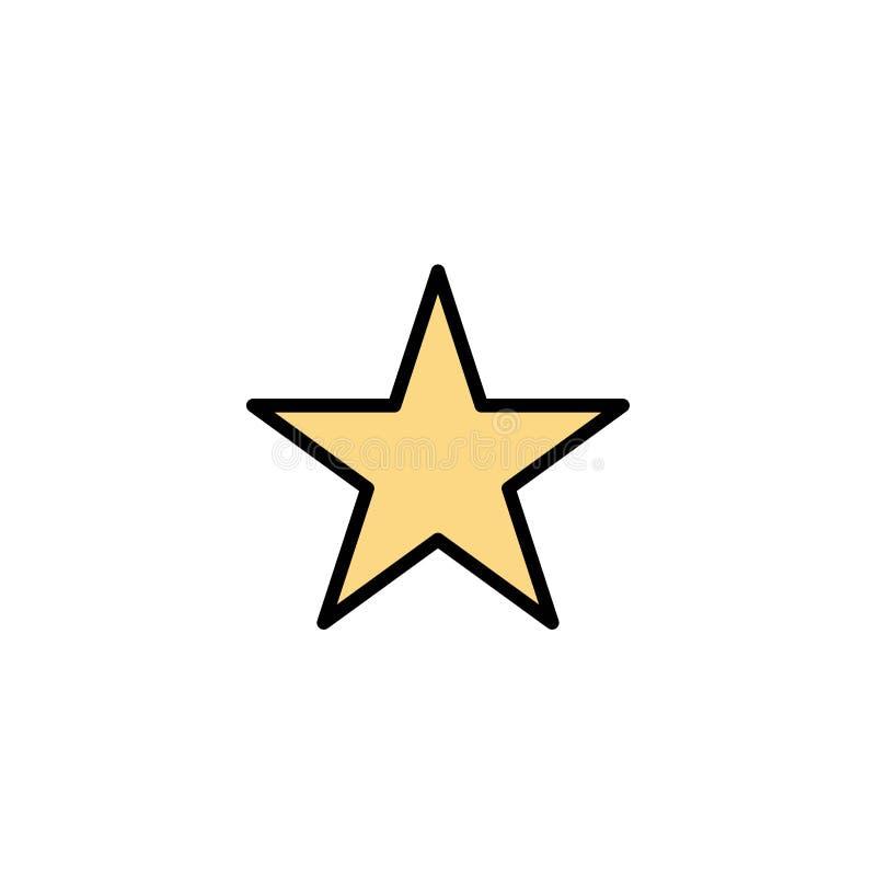 Referentie, Ster, Media Zaken Logo Template vlakke kleur stock illustratie
