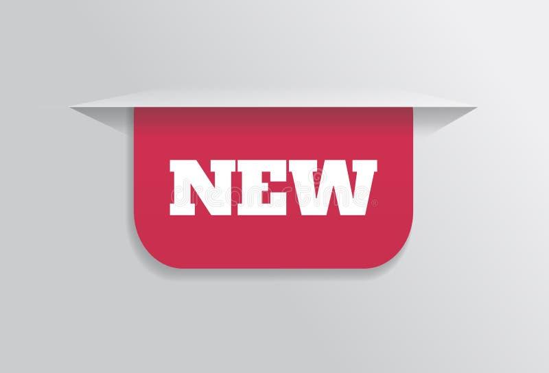 Referentie, sticker, etiket, markering met nieuwe tekst royalty-vrije illustratie