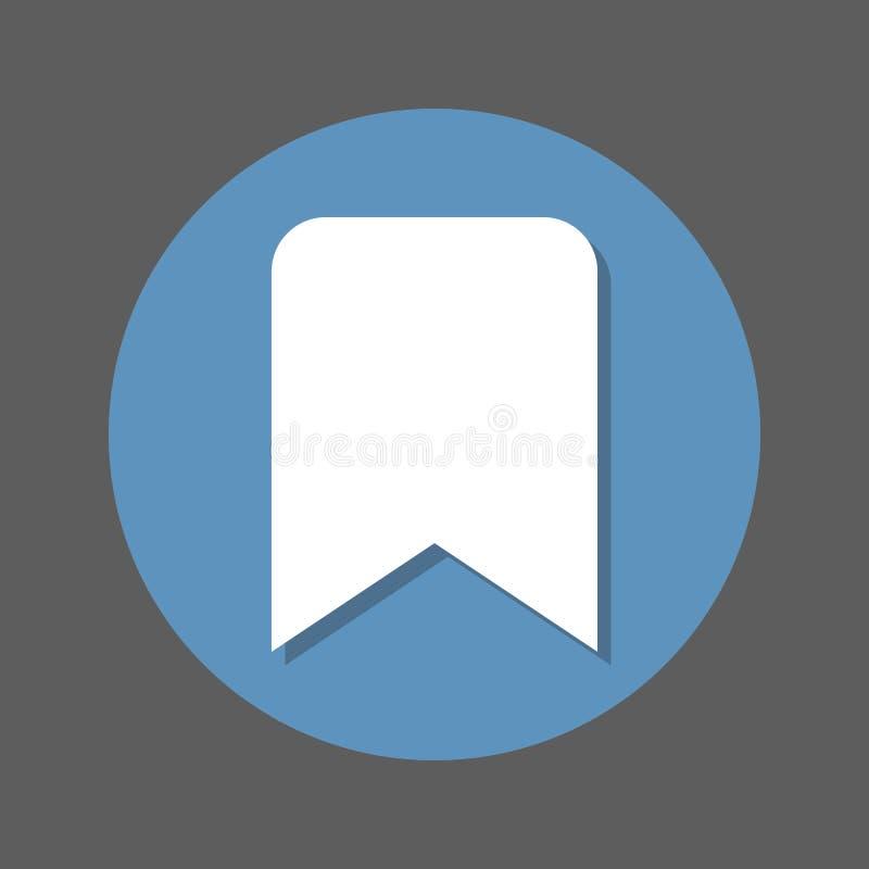 Referentie vlak pictogram Ronde kleurrijke knoop, cirkel vectorteken met schaduweffect Vlak stijlontwerp stock illustratie