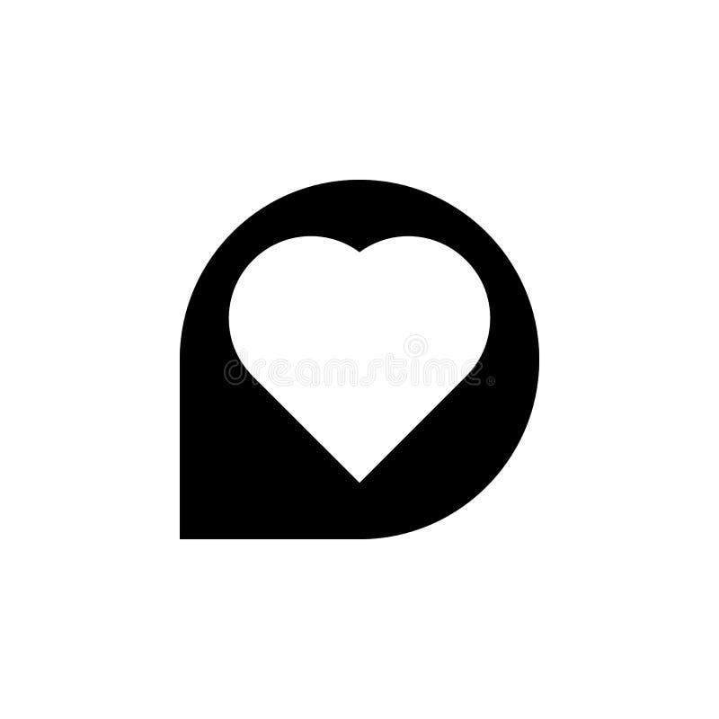 Referentiefavoriet, het pictogram van het liefdehart De tekens en de symbolen kunnen voor Web, embleem, mobiele toepassing, UI, U stock illustratie