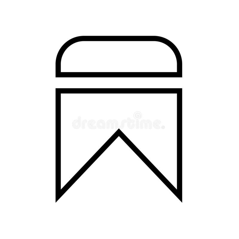 Referentiepictogram op witte achtergrond wordt geïsoleerd die vector illustratie