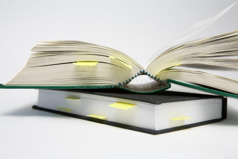 Referenties in Boeken stock fotografie