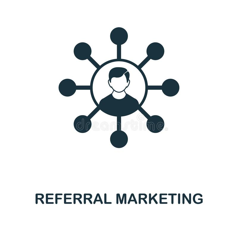 Referral Marketing creative icon. Simple element illustration. Referral Marketing concept symbol design from online marketing coll vector illustration