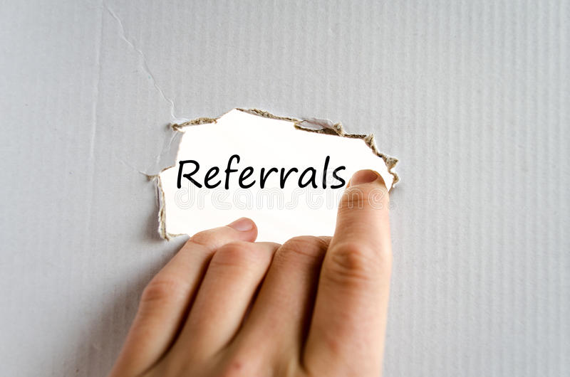 Referrals Concept stock images