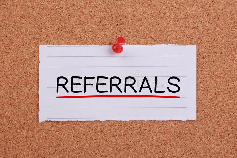 Referrals Concept Note stock images