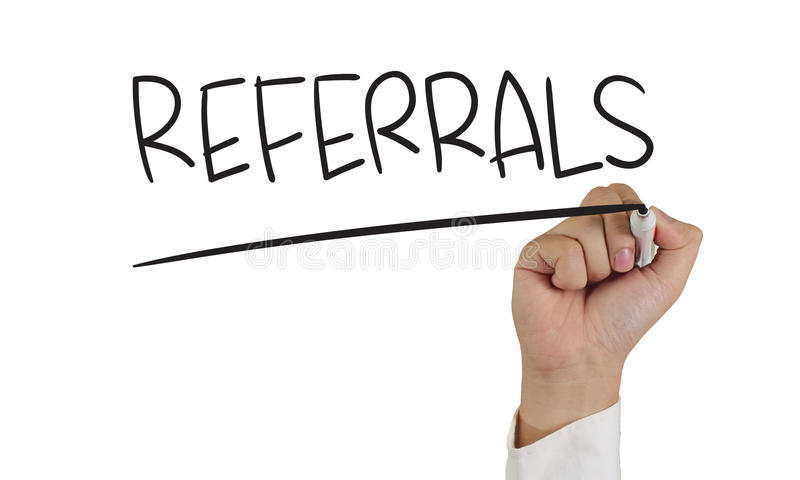 Referrals royalty free stock photo