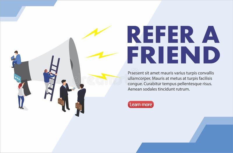 Refiera un ejemplo del vector del concepto de la palabra del amigo con hablar de la gente del hombre de la silueta del car?cter p libre illustration