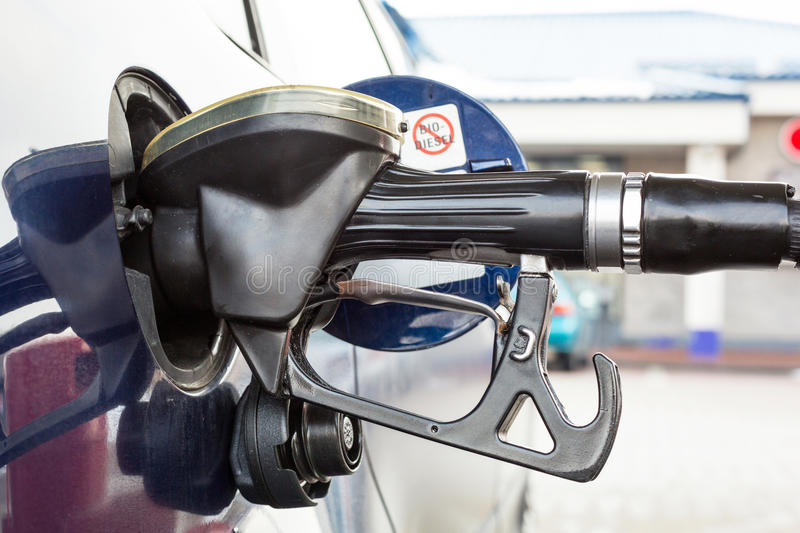 Refilling car fuel royalty free stock images