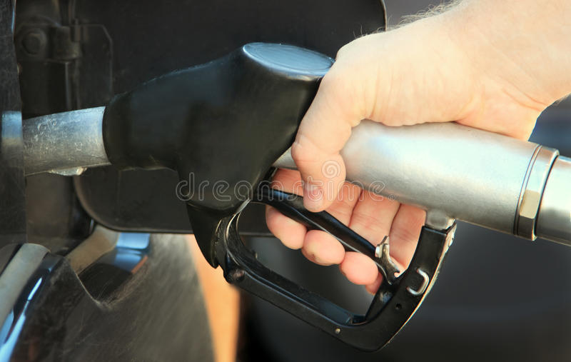 Refilling The Car With Unleaded Petrol Stock Photo