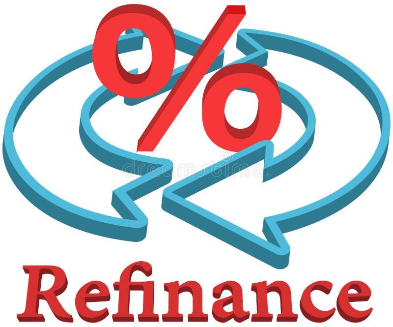Refinansuje domową hipoteczną pożyczkę ilustracja wektor