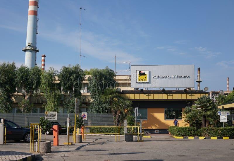 Refinaria de ENI em Taranto fotos de stock