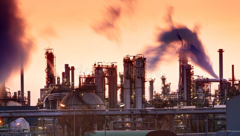 Refinaria indutry do óleo - fábrica fotos de stock