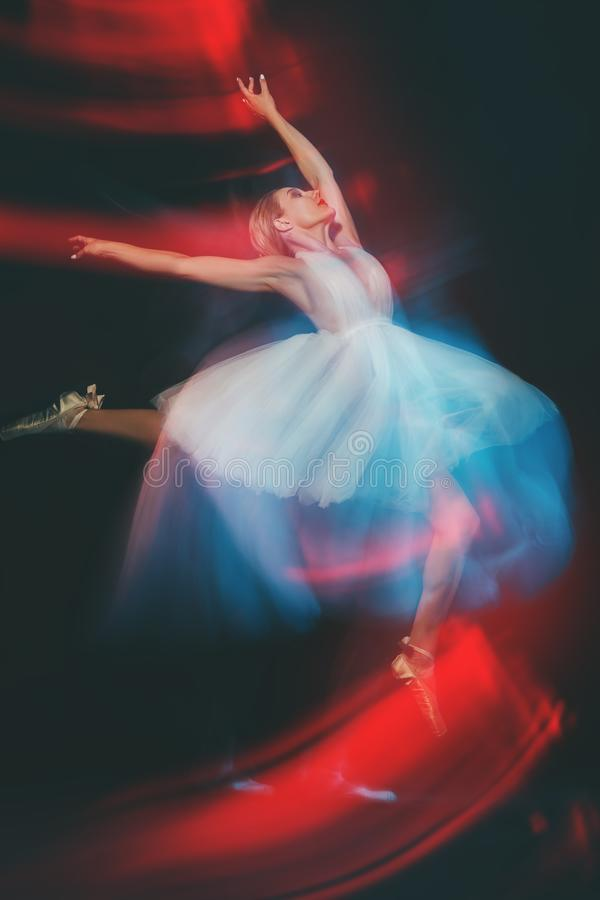 Refined ballet dancer royalty free stock photography