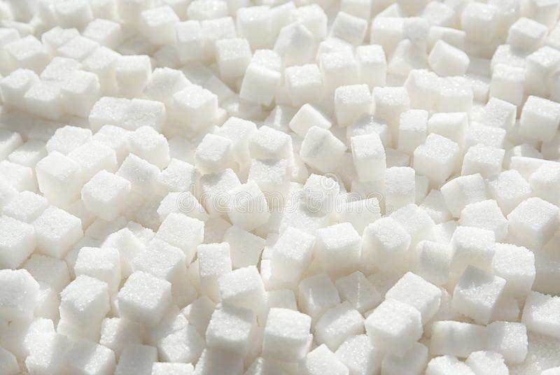Refined sugar cubes. As background royalty free stock image