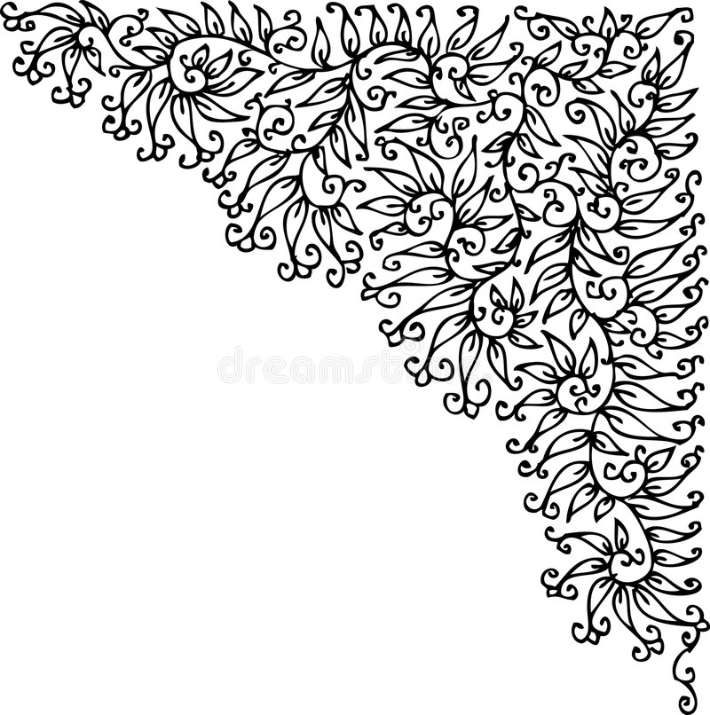 Download Refined vignette XXV stock vector. Image of drawing, floral - 9203902