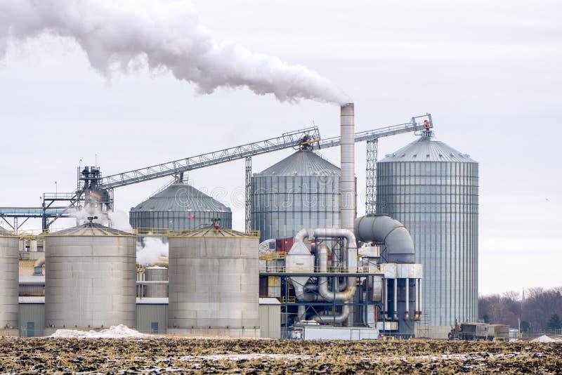 Refinería americana del etanol imágenes de archivo libres de regalías