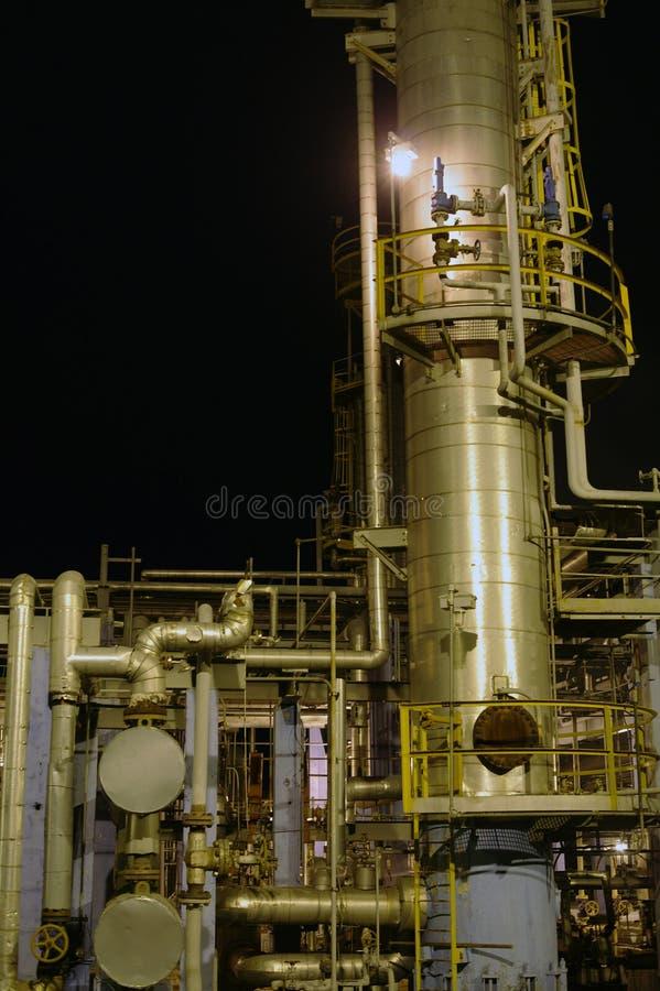 Refinería de petróleo. imagenes de archivo