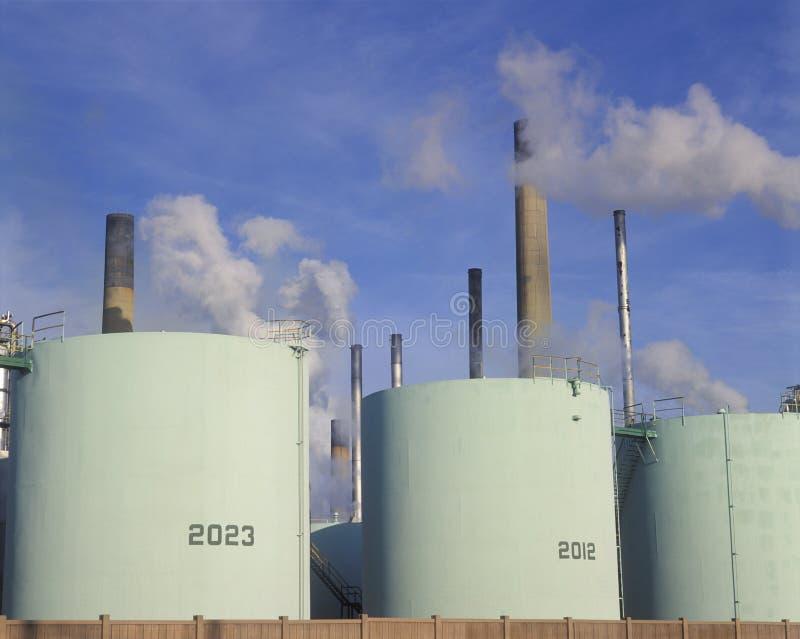 Refinería de petróleo en Sarnia, Canadá fotografía de archivo