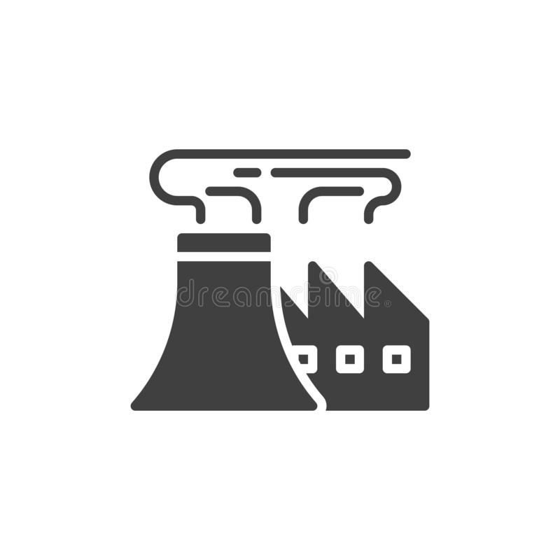 Refinery Factory pipes vector icon royalty free illustration